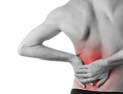 man suffering lower back pain