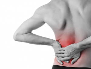 man with chronic back pain