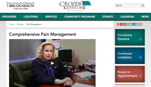 Screen shot from Crozer Keystone