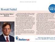 Chief Operating Officer of Relievus Ronald Saltiel has set out to change the way chronic pain is diagnosed, managed, and treated.