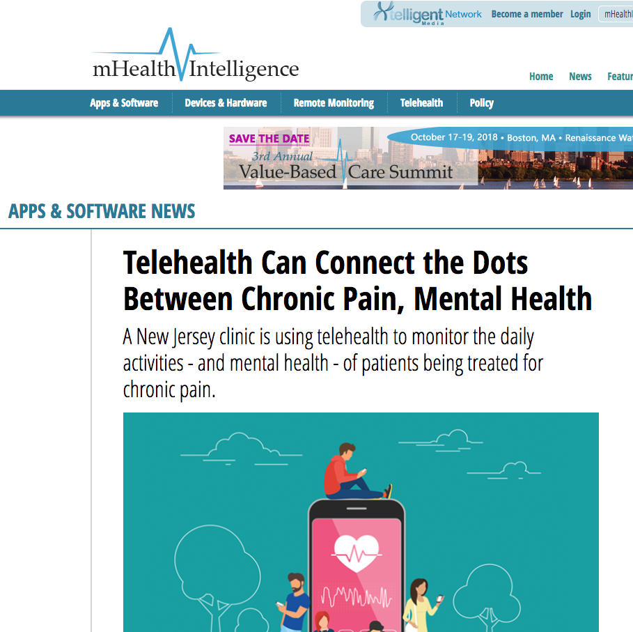 The picture Of mHealth Intelligence website.